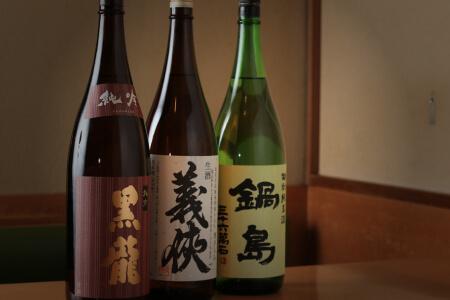 店主こだわりの日本酒