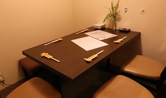個室も完備、カウンターでお一人様ものイメージ
