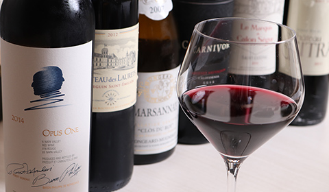 上質なお肉を引き立てるワインが織りなす至福の時間