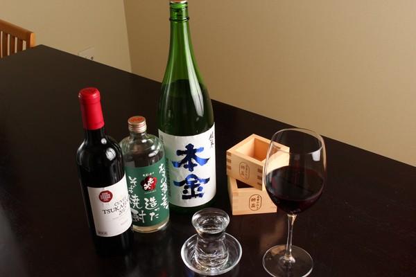 日本酒、焼酎、ワイン
