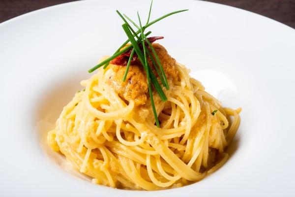 生雲丹のペペロンチーノ スパゲティーニ