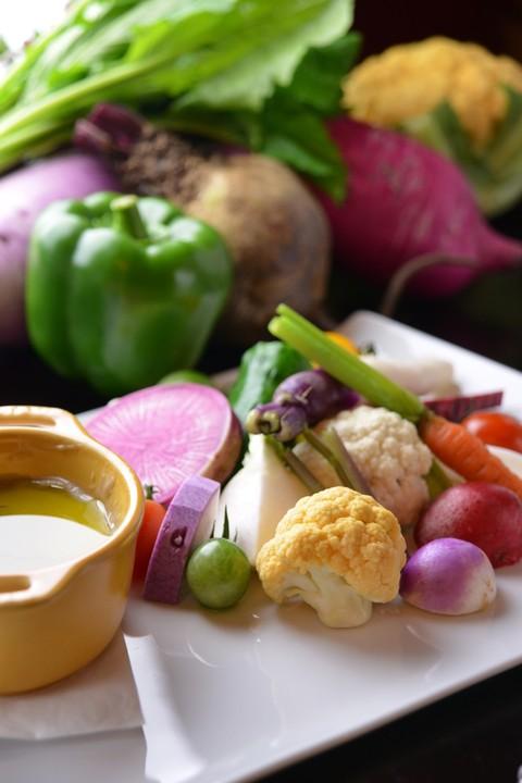 地場野菜のバーニャカウダスタイル西京みそ風味
