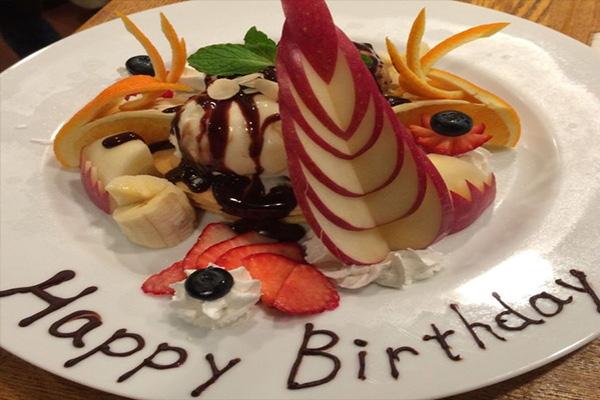 誕生日・記念日のお祝いも承ります!