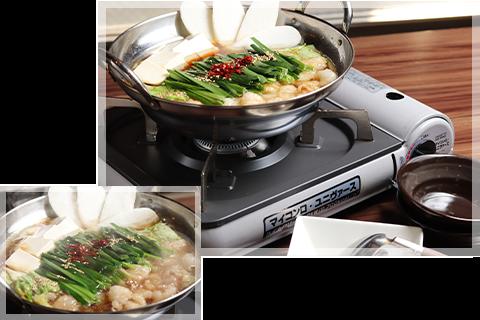 お鍋から〆の逸品までスタッフが全てテーブル調理♪